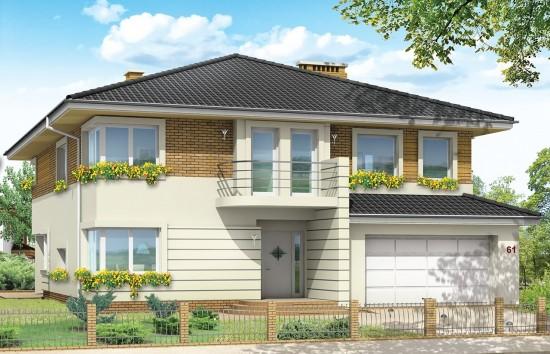 Projekt domu Gabriela 2 - wizualizacja frontowa