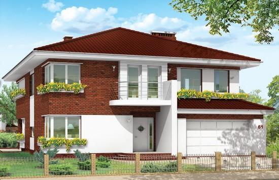 Projekt domu Gabriela 3 - wizualizacja frontowa