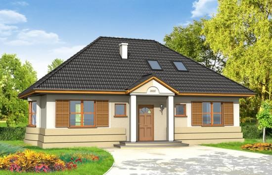 Projekt domu Gargamel - wizualizacja frontu