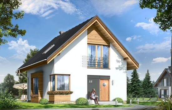 Projekt domu Gucio - wizualizacja frontowa