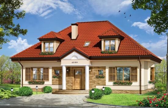 Projekt domu Hetman - wizualizacja frontowa