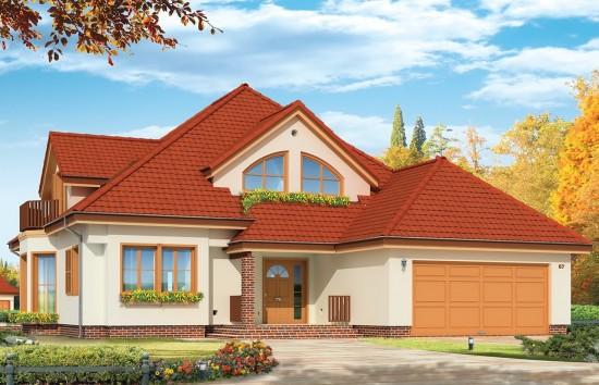 Projekt domu Hornówek 2 - wizualizacja frontowa