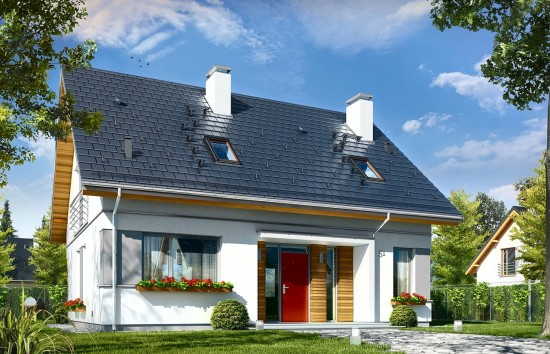 Projekt domu Idealny - wizualizacja frontowa