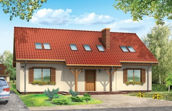 Projekt domu Iskierka - wizualizacja frontowa