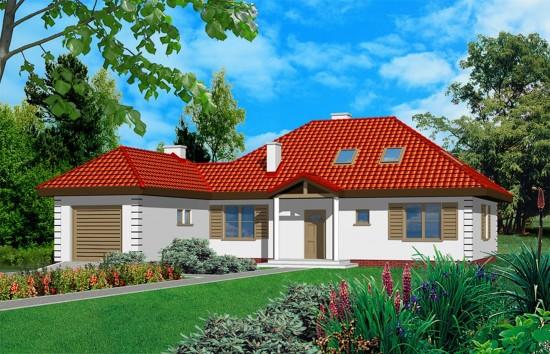 Projekt domu Jak marzenie 2 - wizualizacja frontowa