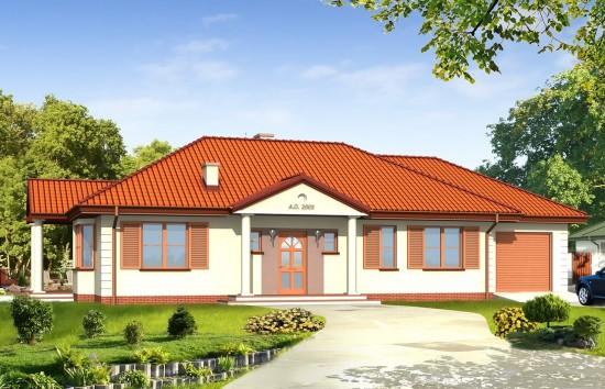 Projekt domu Jak marzenie 3 - wizualizacja frontowa