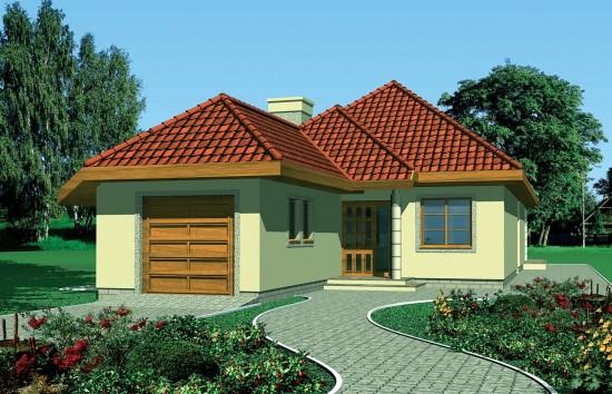 Projekt domu Jamnik 2 - wizualizacja frontowa