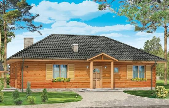 Projekt domu Jaskółka - wizualizacja frontowa