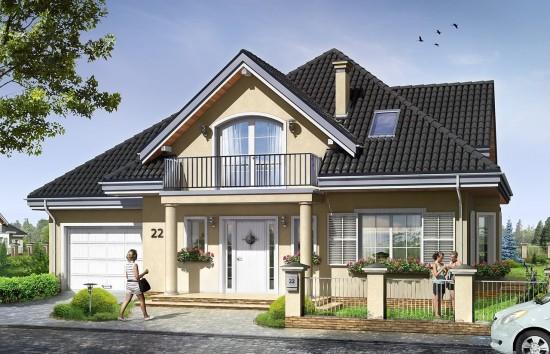 Projekt domu Julka 2 - wizualizacja frontowa