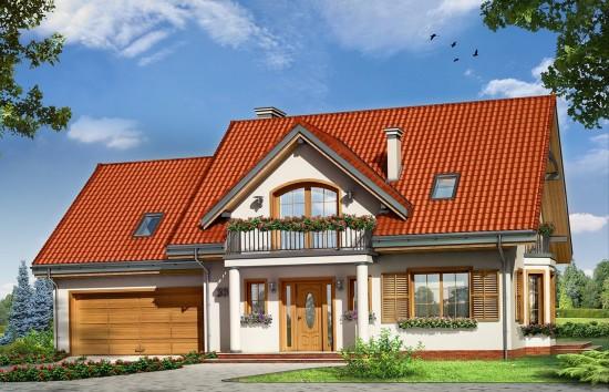 Projekt domu Julka 3 - wizualizacja frontowa