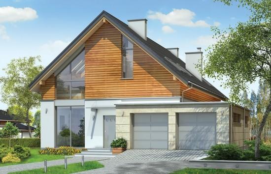 Projekt domu Jurajski - wizualizacja frontowa