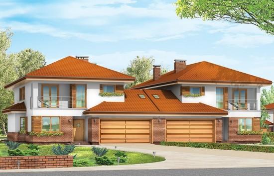 Projekt domu Kasjopea 2 - wizualizacja frontowa
