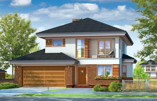 Projekt domu Kasjopea 4 - wizualizacja frontowa