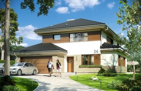 Projekt domu Kasjopea 5 - wizualizacja frontowa