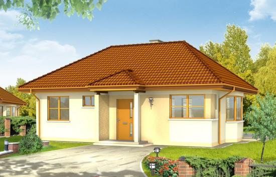 Projekt domu Klejnot - wizualizacja frontowa