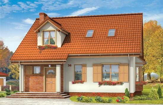 Projekt domu Klif - wizualizacja frontowa