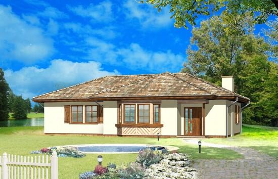 Projekt domu Kujawiak - wizualizacja frontowa