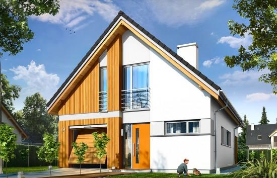 Projekt domu Lena - wizualizacja frontowa