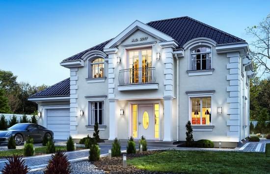 Projekt domu Magnat 2 - wizualizacja frontowa