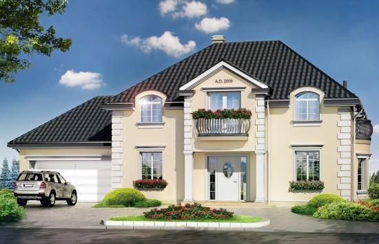 Projekt domu Magnat - wizualizacja frontowa