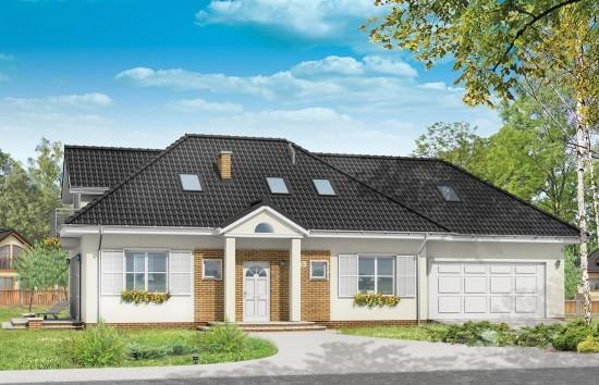 Projekt domu Magnolia - wizualizacja frontowa