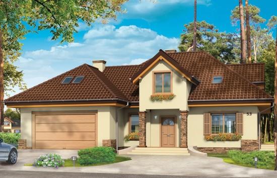 Projekt domu Maja 3 - wizualizacja frontowa