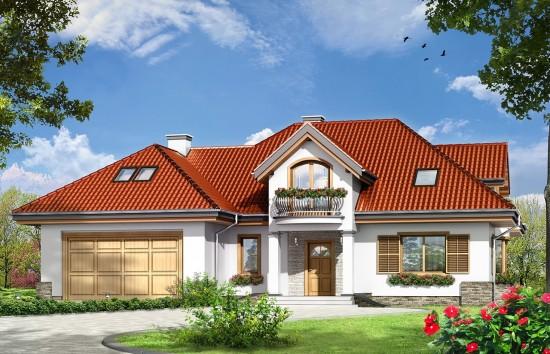 Projekt domu Maja 4 - wizualizacja frontowa