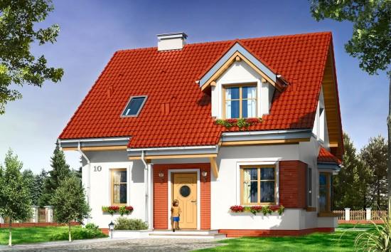 Projekt domu Michałek - wizualizacja frontowa