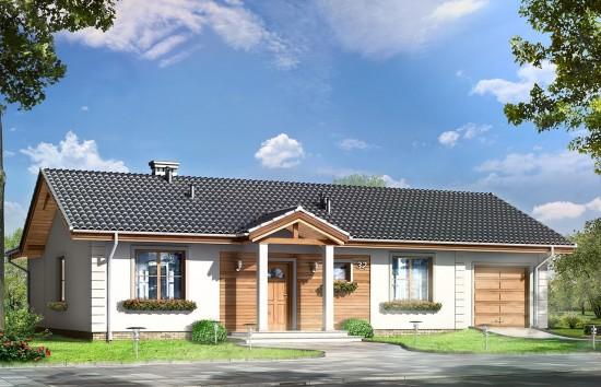 Projekt domu Miluś - wizualizacja frontowa