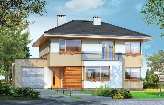 Projekt domu Nieduży - wizualizacja frontowa