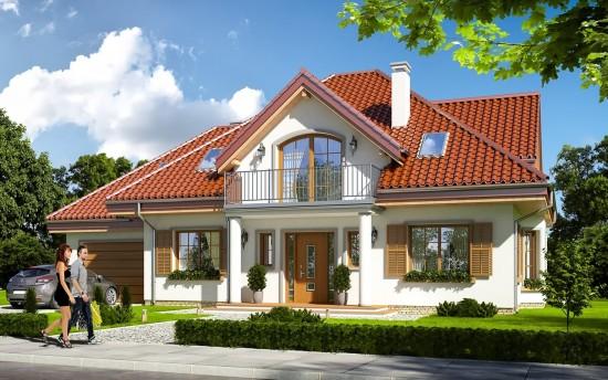 Projekt domu Ofelia 2 - wizualizacja frontowa