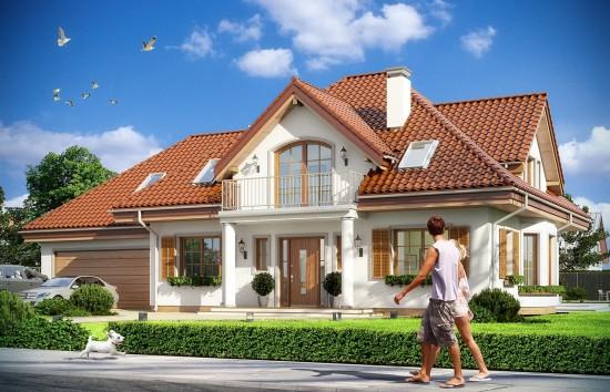 Projekt domu Ofelia - wizualizacja frontowa