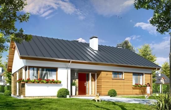 Projekt domu Oliwka - wizualizacja frontowa