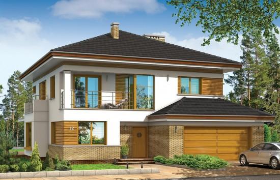 Projekt domu Opal - wizualizacja frontowa