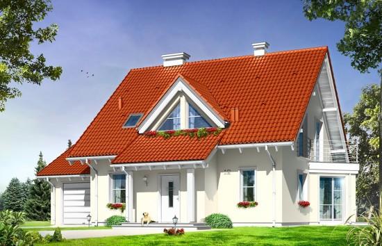 Projekt domu Orlik - wizualizacja frontowa