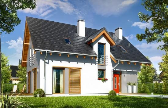 Projekt domu Oskar - wizualizacja frontowa