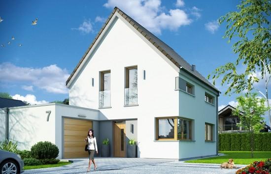 Projekt domu Oszczędny - wizualizacja frontowa