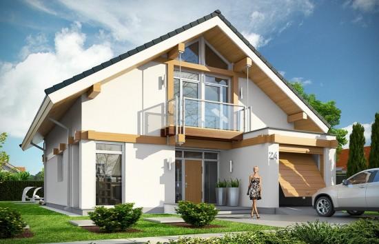 Projekt domu Otwarty 3 - wizualizacja frontowa