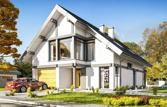 Projekt domu Otwarty 5 - wizualizacja frontowa
