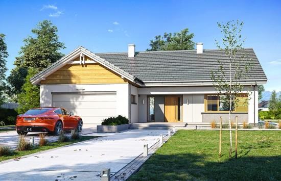 Projekt domu Parterowy 3 - wizualizacja frontowa