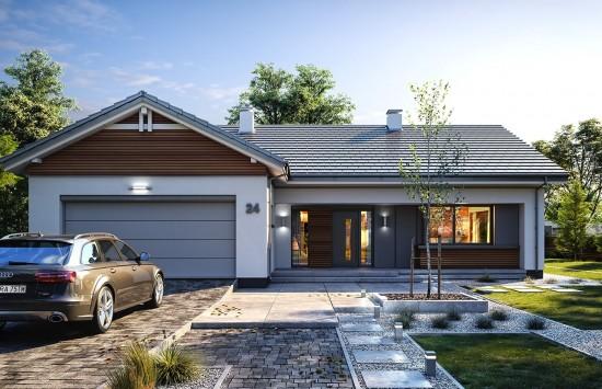 Projekt domu Parterowy 4 - wizualizacja frontowa