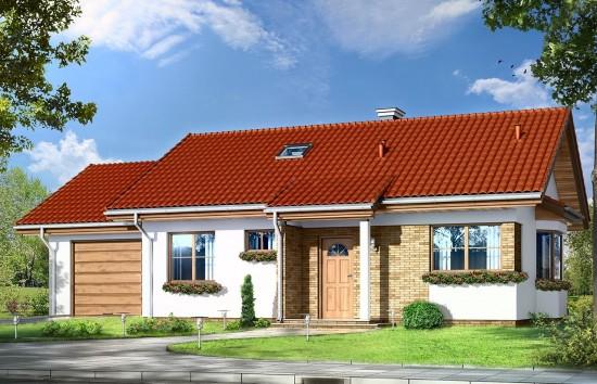 Projekt domu Perełka 2 - wizualizacja frontowa