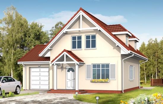 Projekt domu Pierwszy Dom 3 - wizualizacja frontowa