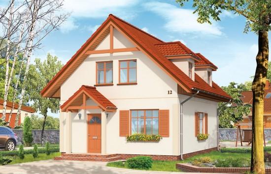 Projekt domu Pierwszy Dom - wizualizacja frontowa
