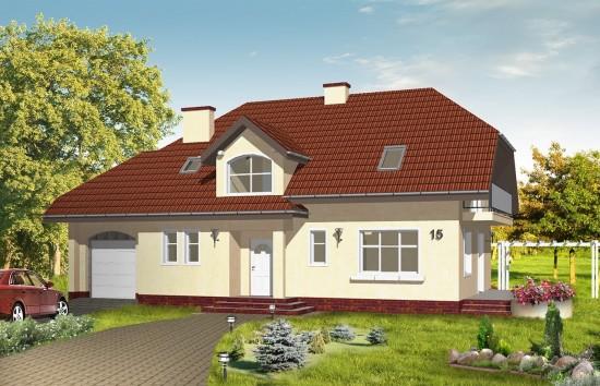 Projekt domu Pogodny 3 - wizualizacja frontowa