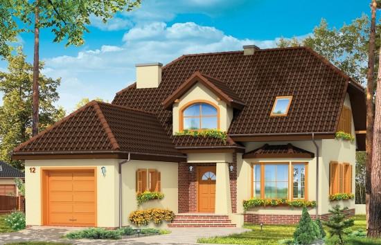 Projekt domu Pogodny 4 - wizualizacja frontowa