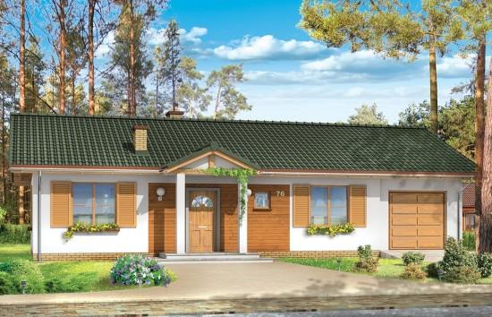Projekt domu Promyk - wizualizacja frontowa