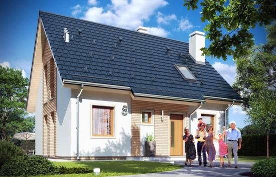 Projekt domu Przygoda 2 - wizualizacja frontowa