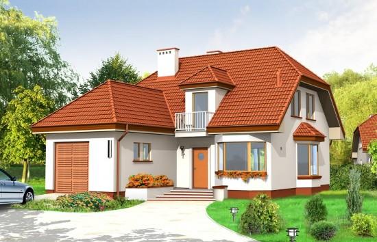 Projekt domu Przytulny - wizualizacja frontowa