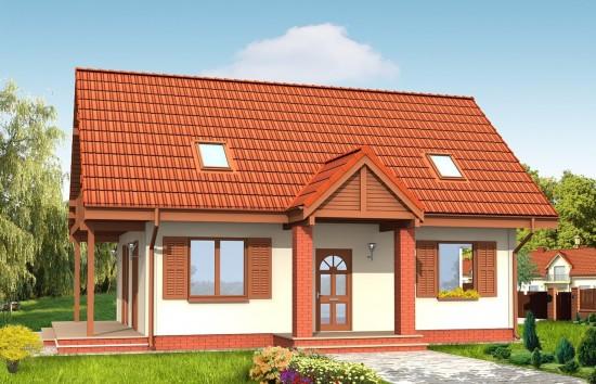 Projekt domu Radosny - wizualizacja